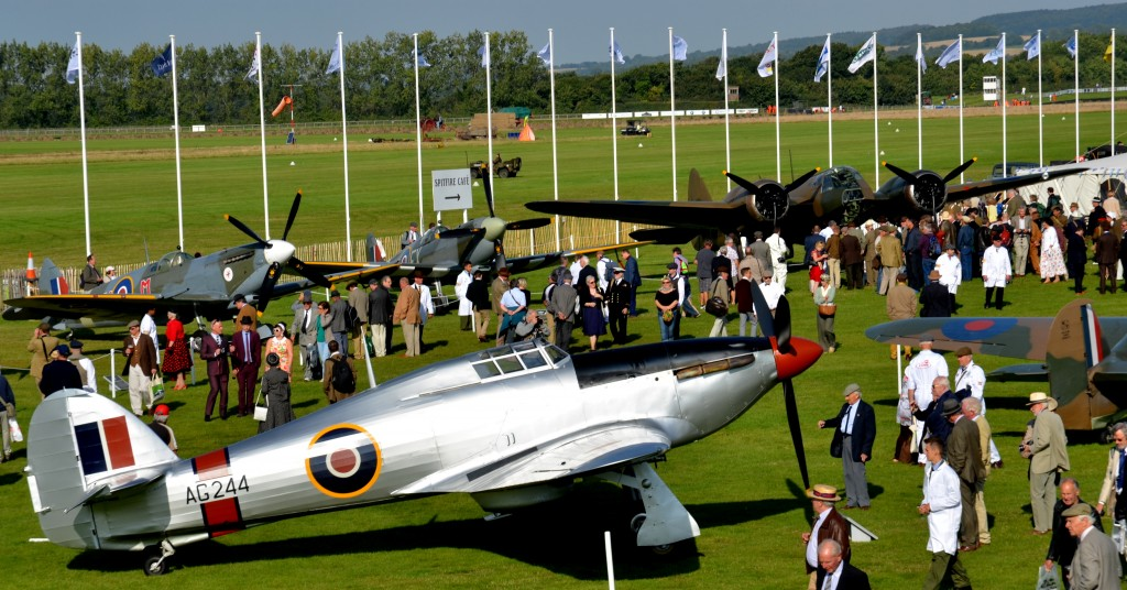 Hawker Hurricaine with the Bristol Blenheim in the background.