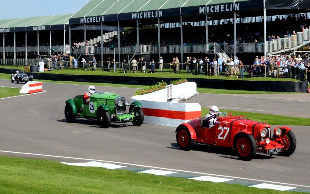1935 Aston Martin Ulster leading the 1931 Talbot AV105