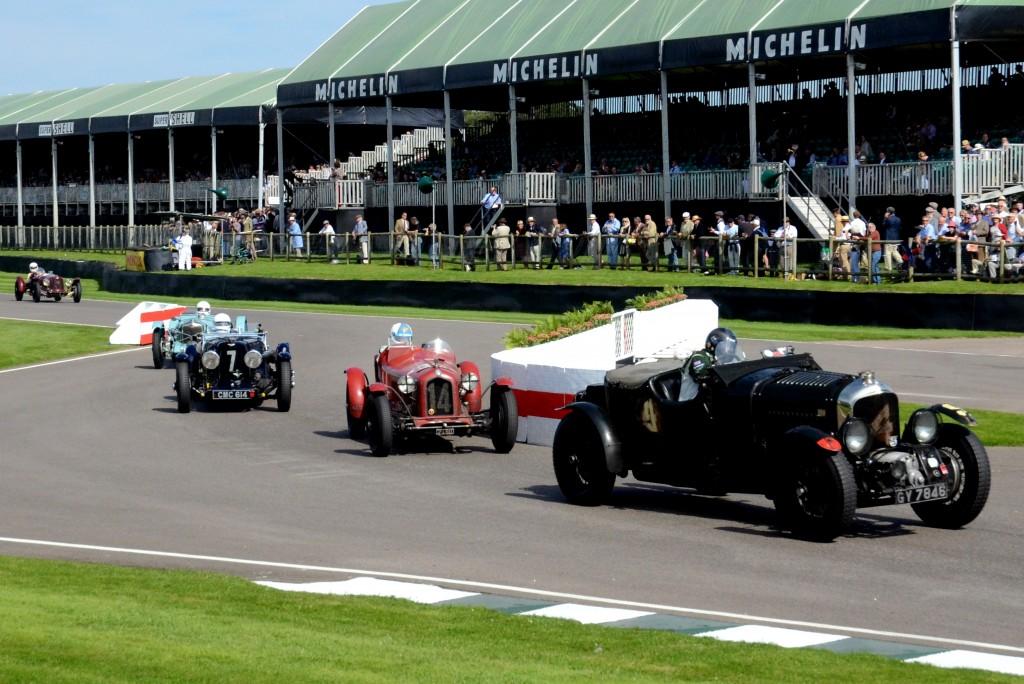 1937 Aston Martin 2-Litre Speed, 1932 Alfa Romeo 8C 2600 Muletto, 1935 Aston Martin Ulster.