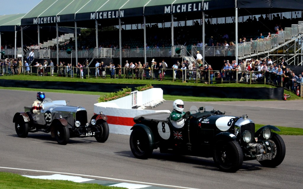 1929 Bentley 4.5 Litre Blower followed by 1925 Vauxhall 30/98 Brooklands Special.