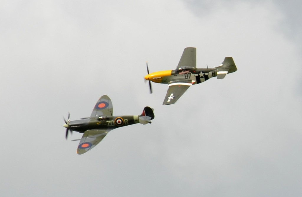 Spitfire and Mustang.