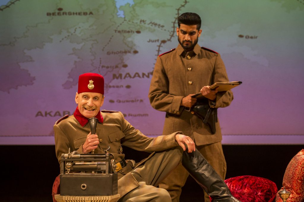 Ross Michael Feast as Turkish Military Governor with Navinder Bhatti in ROSS at Chichester Festival Theatre. Photo by Johan Persson. Join The World Magazine
