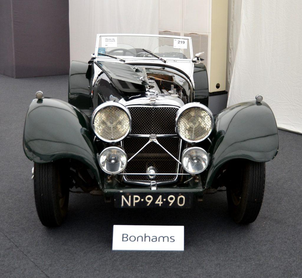 1938 Jaguar SS100 3 1/2-Litre Roadster.