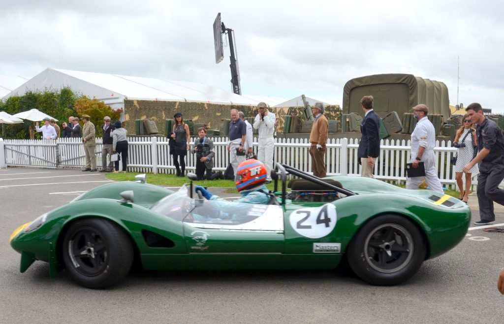 Tiff Needall, Lotus 30, Whitsun Trophy.